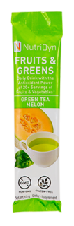 NutriDyn Fruits & Greens TO GO - Green Tea/Melon (30 Stick Packets)