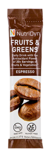 NutriDyn Fruits & Greens TO GO - Espresso (30 Stick Packets)