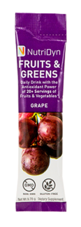 NutriDyn Fruits & Greens TO GO - Grape (30 Stick Packets)