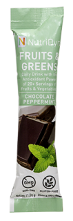 NutriDyn Fruits & Greens TO GO - Chocolate Peppermint (30 Stick Packets)